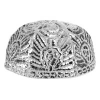 Yarmulka Silver Atarah Style