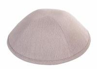 Yarmulka Linen Light Gray Size 5