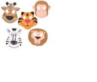 Zoo Animal Mask Foam Collection Purim Costume Accessory