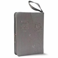Siddur and Tehillim with Zipper Silver Faux Leather Ashkenaz
