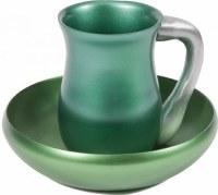 Yair Emanuel Judaica Anodize Aluminum Mayim Achronim Set Green