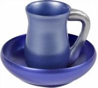 Yair Emanuel Aluminum Mayim Achronim Set Blue