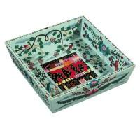 Yair Emanuel Wooden Passover Matzah Plate- Oriental Design