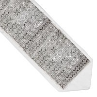 Atara Silver Colored Criss-Cross Surrounded by Small Rhinestones Design