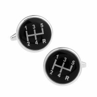 Black Gear Cufflinks with Cuff Link Display Gift Box