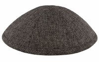 Kippah Gray Burlap 6 Part One Size Fit All