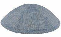 Kippah Light Blue Burlap 6 Part One Size Fit All