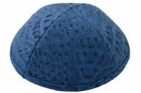 iKippah Light Blue Crocodile Leather Size 3