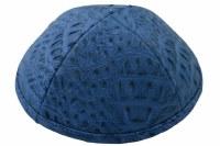 iKippah Light Blue Crocodile Leather Size 5