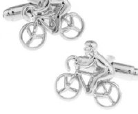 Biker Cufflinks Silver with Cuff Link Display Gift Box