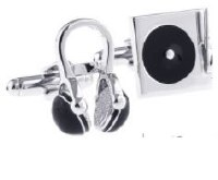 Walkman Cufflinks Black with Cuff Link Display Gift Box