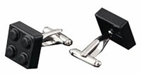 Black Building Block Cufflinks with Cuff Link Display Gift Box