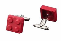 Red Building Block Cufflinks with Cuff Link Display Gift Box