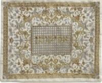 Yair Emanuel Full Embroidered Afikomen Bag Oriental Gold & Grey
