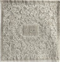 Yair Emanuel Embroidered Matzah Cover Oriental Silver