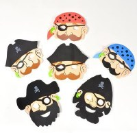 Pirate Mask Collection Foam Set Purim Costume Accessory