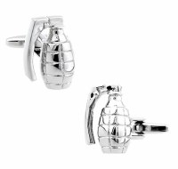 Grenade Cufflinks with Cuff Link Display Gift Box