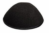 iKippah Black Burlap Size 3