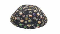 iKippah Happy Chanukah Navy Size 6