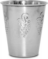 Stainless Steel Kiddush Cup Grapes Design 3.4 Oz