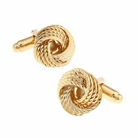 Gold Knot Cufflinks with Cuff Link Display Gift Box