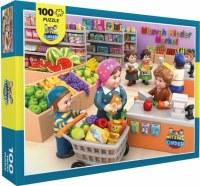 Mitzvah Kinder Floor Puzzle Market Scene 100 Pieces