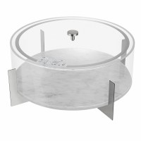 MetaLucite Round Matzah Holder on Silver Metal Base 13.75""