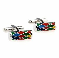 Multicolor Roll Cufflinks with Cuff Link Display Gift Box