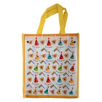 Purim Gift Bag with Handles Purim Sameach Happy Purim Design Yellow