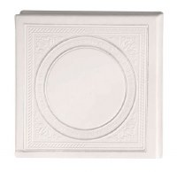 Birchas Hamazon Square Circle Design White Ashkenaz [Hardcover]