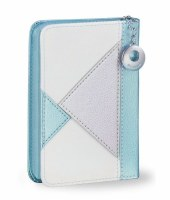 Siddur Eis Ratzon with Tehillim Zippered Blue Triangle Design Faux Leather Edut Mizrach