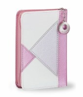 Tehillim Eis Ratzon with Zipper Rose Colored Triangle Design Faux Leather