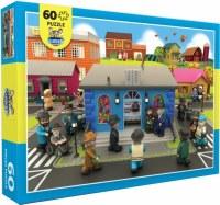 Mitzvah Kinder Floor Puzzle Shul Scene 60 Pieces