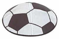 Kippah Suede Soccer Design Size Medium