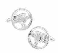 Steering Wheel Cufflinks with Cuff Link Display Gift Box