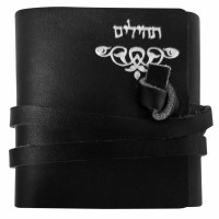 Pocket Leather Tehillim Individually Wrapped with Leather Strap Enclosure Assorted Colors - 1 piece per order