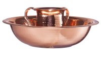 Hammered Stainless Steel Washing Cup and Bowl Set Copper Plated