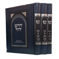 Dorash Dovid Hebrew Only 3 Volume Set [Hardcover]