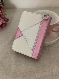 Complete Siddur Eis Ratzon and Tehillim with Zipper Rose Triangle Design Faux Leather Edut Mizrach