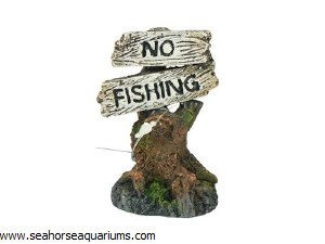 No Fishing Ornament 8cm Assort