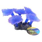 Blue Sponge Decor On Rock 20cm
