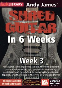 Andy James Shred Guitar Wk 3