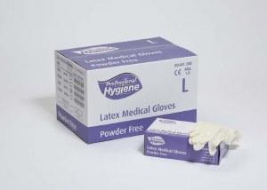 Latex Gloves Powder Free Small 100