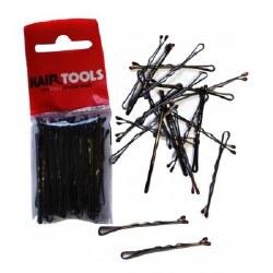 """Hair Tools 2"""" Waved Grips Black 50pk"""