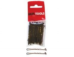 """Hair Tools 2"""" Waved Grips Brown 50pk"""