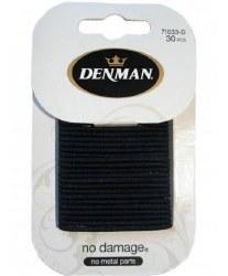 Denman 2mm No Damage Elastics Black 30pk