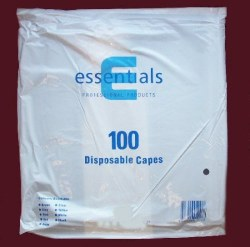 DMI Disposable Shoulder Capes Black