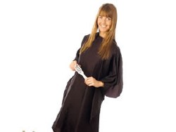 Hair Tools Black Nylon Economy Gown