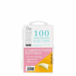 The Edge Natural Competition 100 Assorted Nail Tips