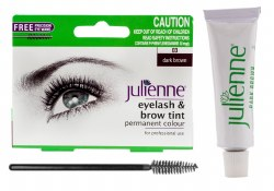 Julienne Eyelash and Eyebrow Tint Dark Brown 15ml